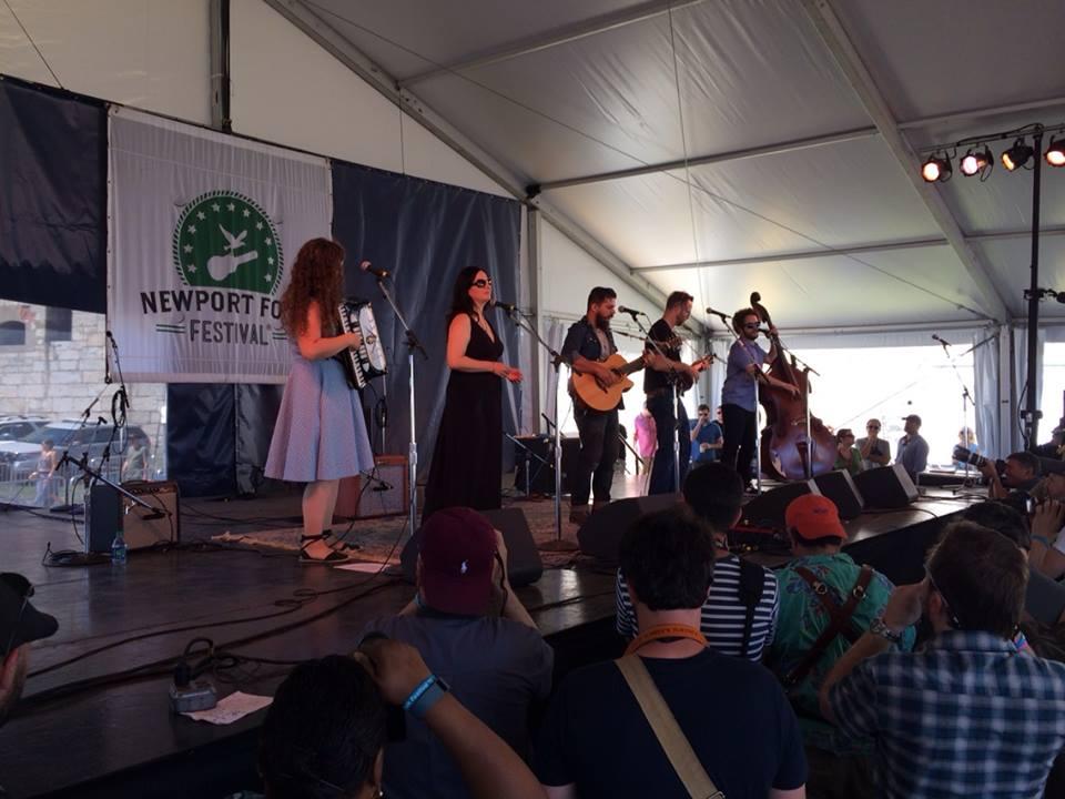 I sing at Newport Folk Festival 2015 w Haunt the House