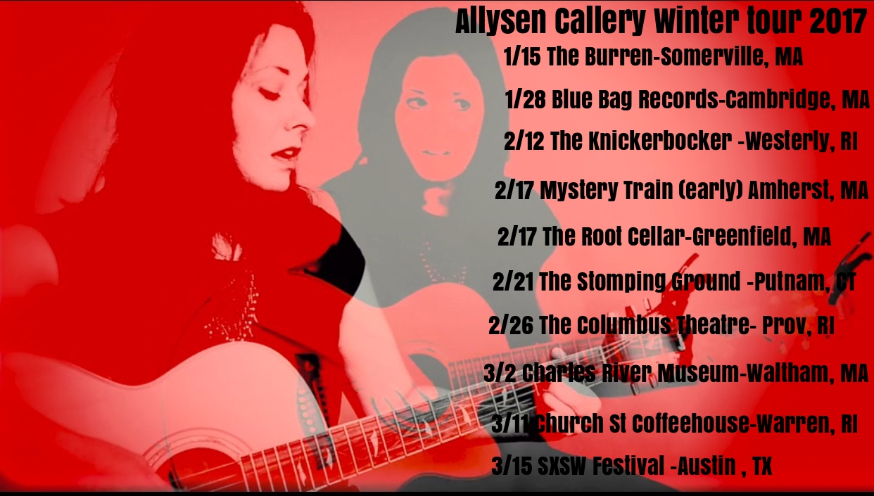 Allysen Callery Winter Tour 2017